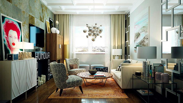 """Style """"Fusion"""" In The Interior Of The Apartment"""